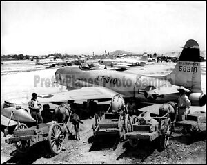 USAF-F-80-Shooting-Star-67th-TRW-Taegu-Korea-1951-8x10-Aircraft-Photos