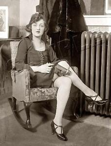 WOMAN with GUN in Leg Holster VINTAGE Pistol *CANVAS* Antique PHOTO Art PRINT