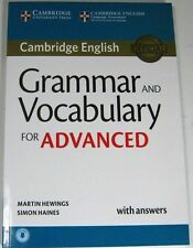 Cambridge English GRAMMAR AN VOCABULARY FOR ADVANCE WITH ANSWERS MARTIN HEWINGS