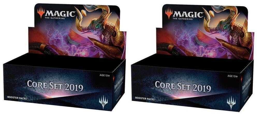 Magic CORE SET 2019 M19 Booster Booster Booster 2 Box Lot Sealed PRESALE ac4efa