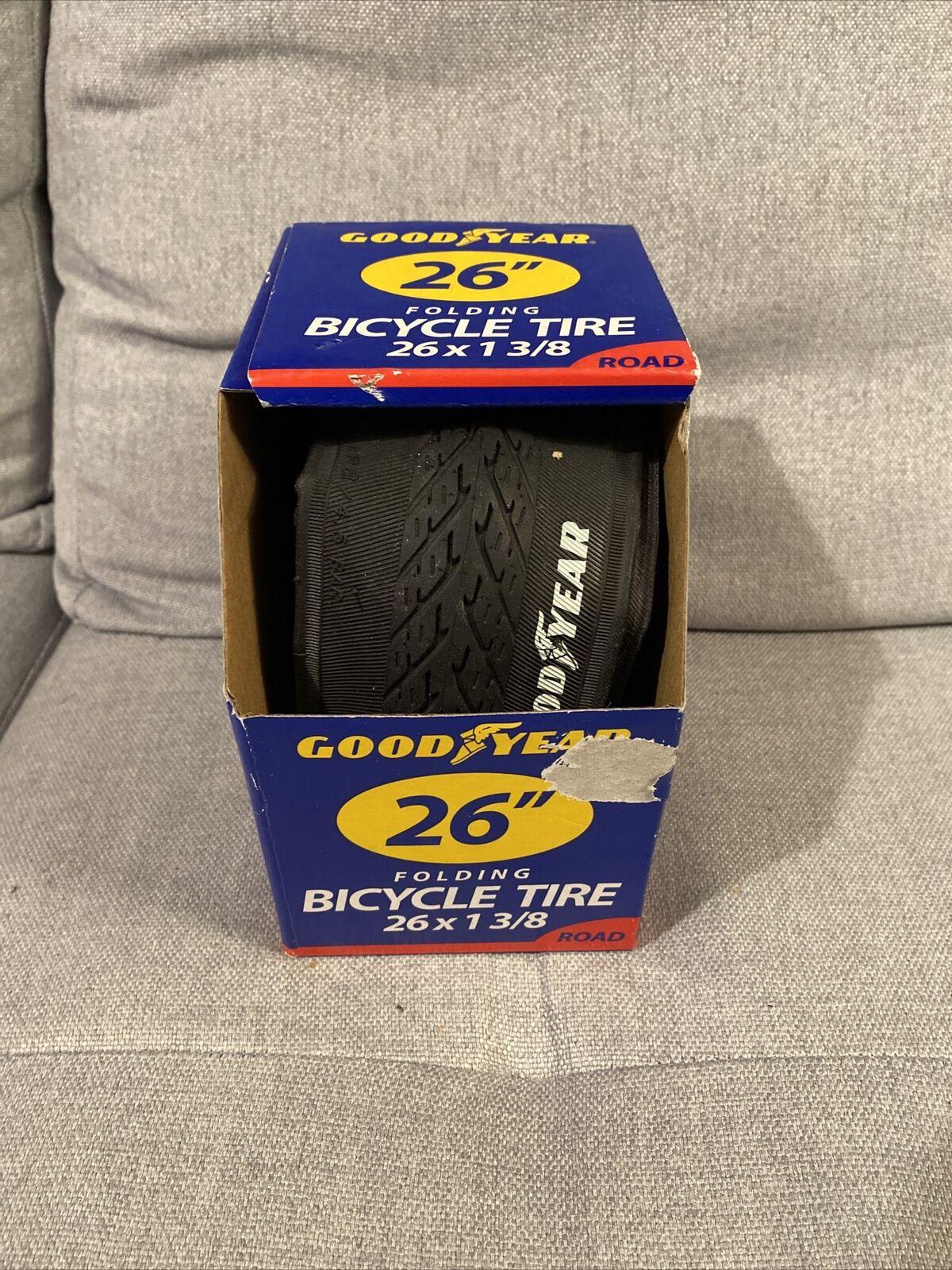 "26x2.00 26x2.125 FOLDING 26/"" BICYCLE TIRE Cruiser New GOODYEAR 26x2.10"