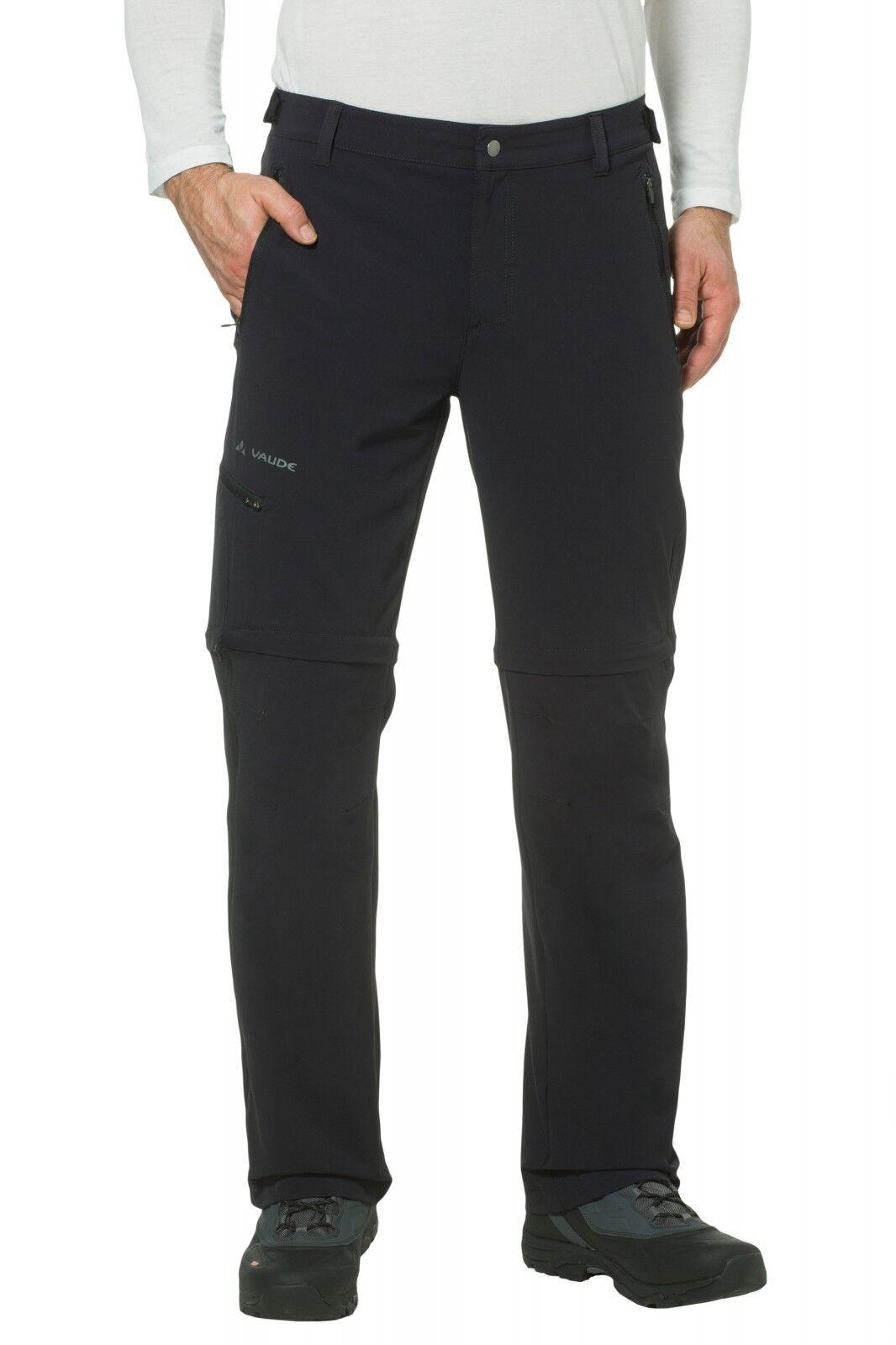 Vaude Herren Wander Trekking Pants Outdoor Hose Farley Stretch T-Zip Pants Trekking II schwarz 698834