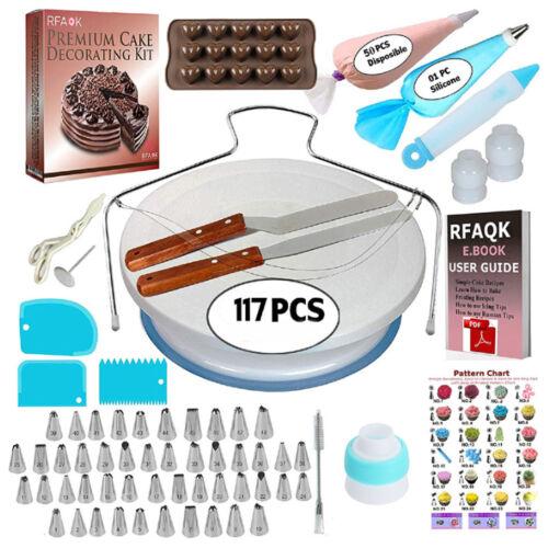 120//164//170 Pcs Set Cake Turntable Decorating Supplies Pieces Kits Baking