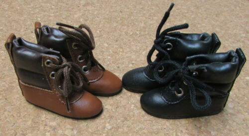 58mm slim Black Hiking Boots Doll Shoes