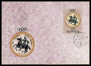 UNGARN-MK-1960-OLYMPIA-OLYMPICS-REITEN-PFERD-MAXIMUMKARTE-MAXIMUM-CARD-MC-cn70