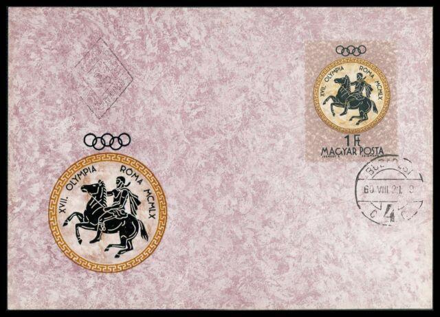 UNGARN MK 1960 OLYMPIA OLYMPICS REITEN PFERD MAXIMUMKARTE MAXIMUM CARD MC cn70