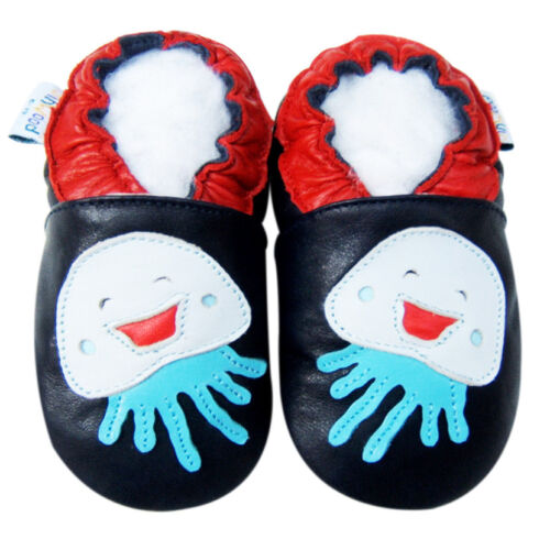 Soft Sole Leather Baby Shoe First Walk Toddler Gift Infant Kid Jellyfish 18-24M