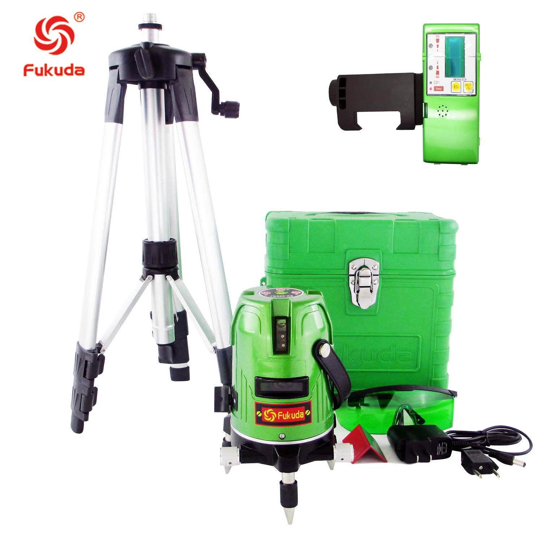 Green Laser Level 5 Lines 360 redary Laser green line  outdoor receiver EK-469GJ