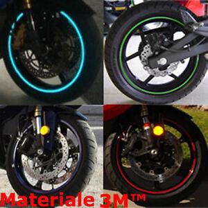 STRISCE-STICKERS-MOTO-BIKE-ADESIVI-CERCHI-RIFRANGENTI-RIFLETTENTI-3M-STRIPE