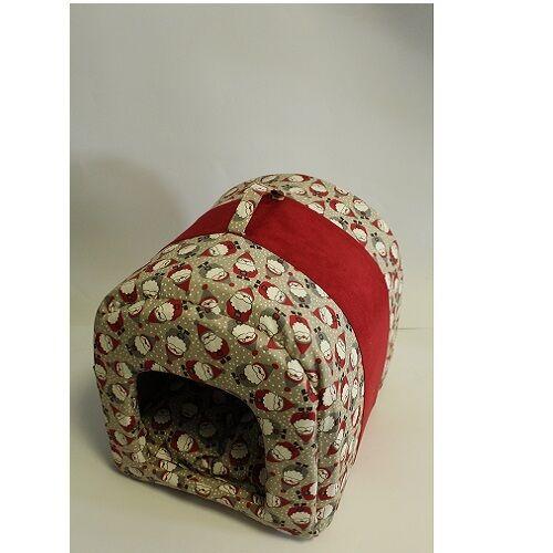 vendita online sconto prezzo basso CAMON CUCCETTA Cuccia TUNNEL cani gatti mod. mod. mod. trasportino NATALE GNOMI tessuto  nuovo sadico