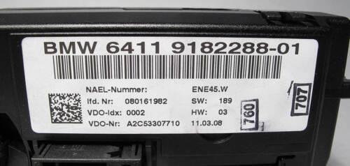 2007-2011 BMW E92 E92 3-Series Air Conditioning Heat HVAC Climate Control Panel