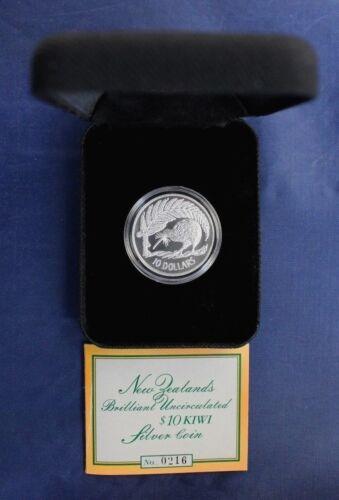 Silver $10 Proof Coin 1 OZ   Kiwi Rare New Zealand 1998