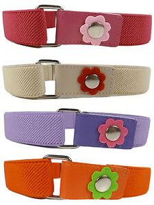 kids Belts Kids Belts/Girls Belt. Girls 1-6 Years Elasticated Belt with Flower Design  | eBay