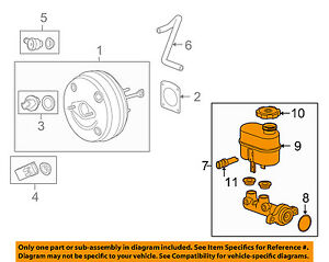 gm oem brake master cylinder 15844166 ebay GM Performance Parts image is loading gm oem brake master cylinder 15844166
