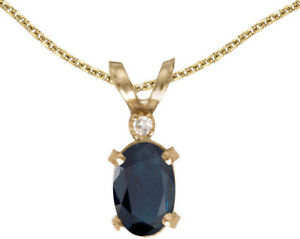 14k-Yellow-Gold-Oval-Sapphire-And-Diamond-Filigree-Pendant-Chain-NOT-included