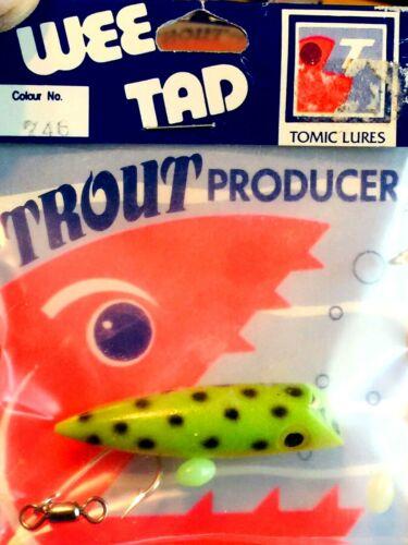 RARE NIP TOMIC LURES WEE TAD FROG TROUT PRODUCER PLUG KOKANEE FISHING LURE