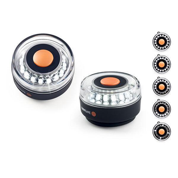 LED Navigationsleuchte, Rundumleuchte, 360° weiß, Magnet Halterung, Navisafe 001
