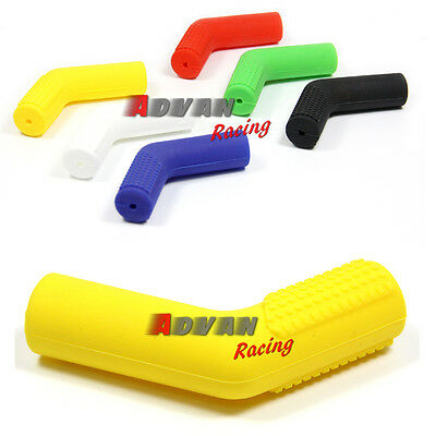 Yellow Rubber Shifter Sock Boot Shoe Protector Shift Cover Dual Offroad Dirtbike