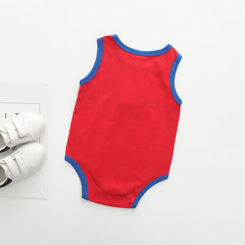 Newborn baby summer superman batman babygrow romper boys clothes playsuits