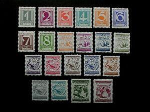 002 ANK 447/67, ZIFFERNSERIE, postfrisch, KW 325,-