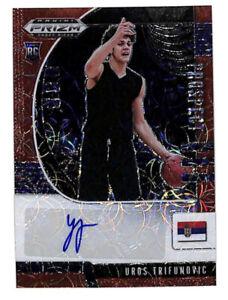 2020-21 Panini Prizm Draft Uros Trifunovic 56/88 auto red scope rookie card