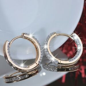18k-yellow-white-gold-made-with-Swarovski-crystal-huggies-small-hoop-earrings