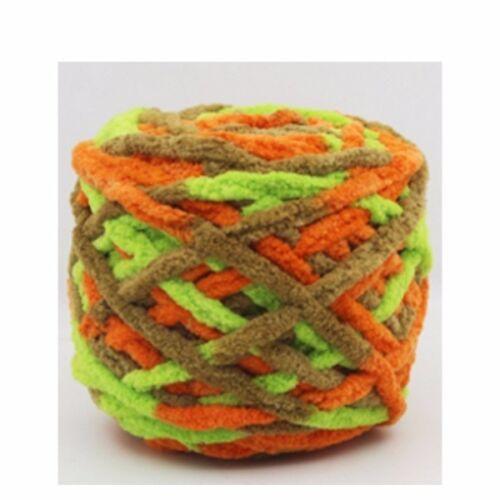 100g//1ball Soft Cotton Hand Knitting Yarn Chunky Woven Bulky Crochet Worested