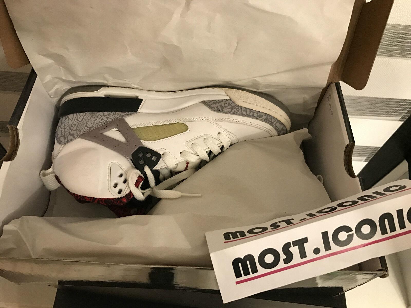 Nike jordan air jordan Nike spizike cemento bianco sz 7y nero aj xi vi iii 3 4 11 7 4 8343ef