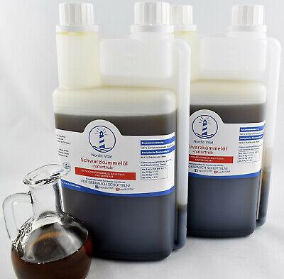 Schwarzkümmelöl 100% Naturtrüb, 2x1l Dosierfl.,hunde, Barfen, Pferd,(20,75€/1l)