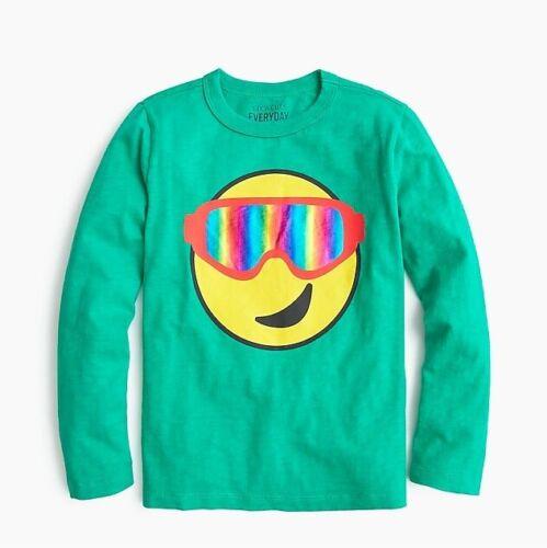 NWT J Crew Crewcuts Kids/' snow goggle emoji T-shirt