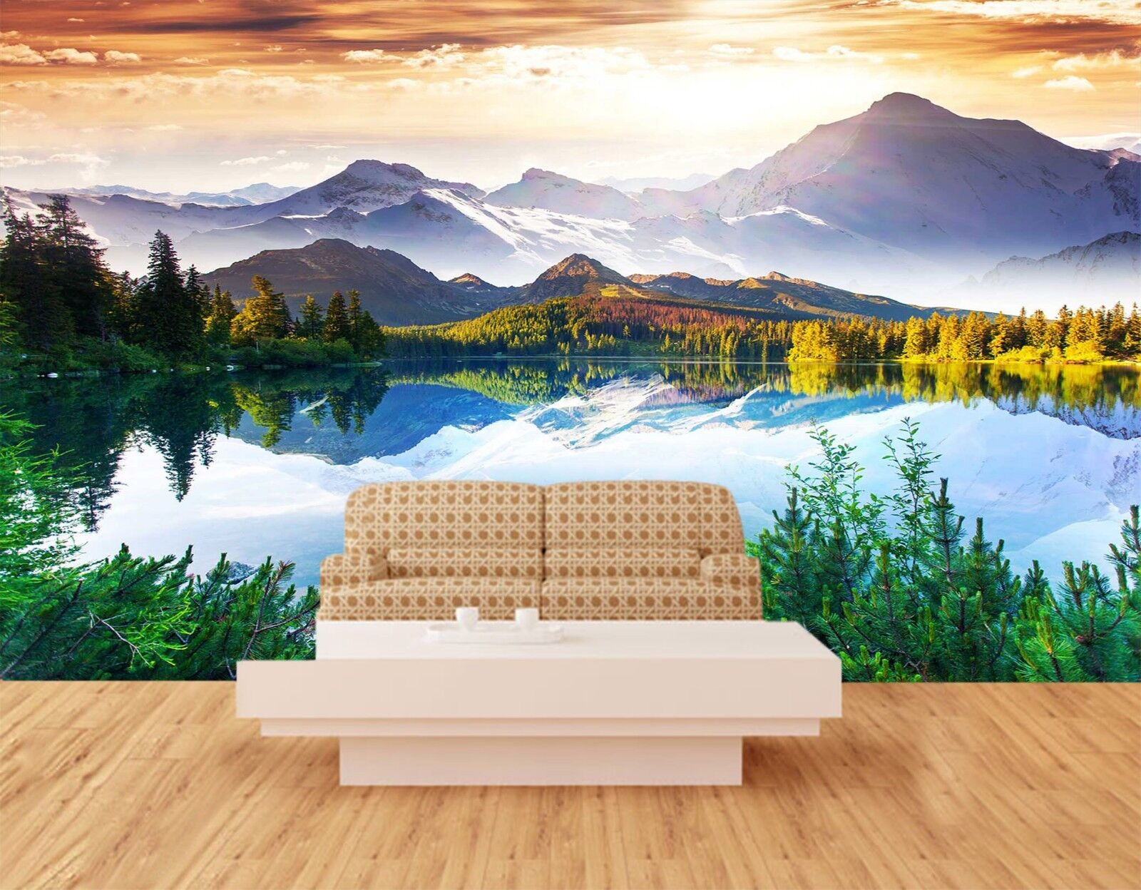 3D Landscape Lake 7263 Wallpaper Mural Wall Print Wall Wallpaper Murals US Lemon