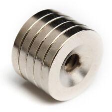 5 Piezas Anillo Imán De Neodimio 20 x 3 mm Con Agujero Fuerza N52 Super Potente