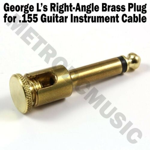 George L/'s BRASS RIGHT-ANGLE Plug /& WHITE STRESS JACKET for .155 Cable Kits