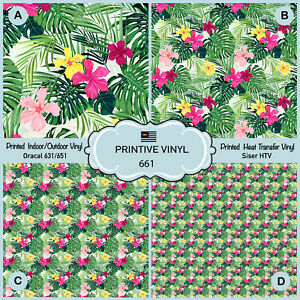 photograph relating to Printable 651 Vinyl called Data with regards to Tropical Hawaiian Flower and Plant Habit Released HTV,Adhesive Vinyl- 661