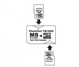Micro Sd Tf Vers Memory Stick Ms Pro Duo Psp Carte Double 2 Fente Adaptateur Convertisseur-afficher Le Titre D'origine G106eynb-07171502-774034092