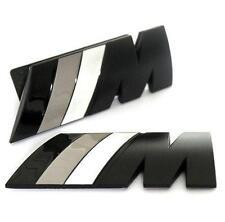 BMW M Tech Sport Power matt schwarz grün Frontgrill Emblem Logo inkl.