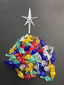 Details About 45 Medium Twist Lights W Modern Crystal Star Vintage Ceramic Christmas Tree