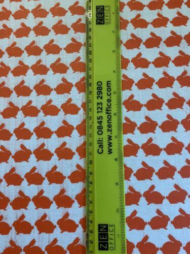 Anorak Coton soutenu Huile Chiffon Tissu Nappe Kissing Rabbit design 1 M lenth