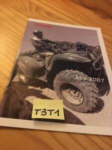Kawasaki Atv Quad 2007 Kvf 360 650 750 Klf 250 300 Prospectus