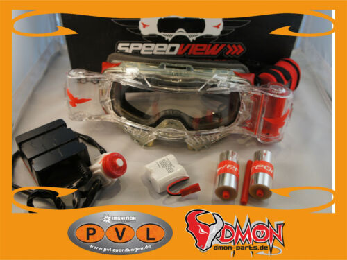 Speedview Occhiali Roll-off sistema speedview Goggle enduro trial speedway QUAD ATV
