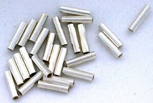 SIXTEEN-6mm-x-1-5mm-6x1-5-PURE-925-STERLING-SILVER-LIQUID-TUBE-BEADS-EBS6985