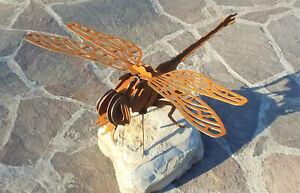 Edelrost-Gartendeko-Rostdeko-Rost-Optik-Libelle