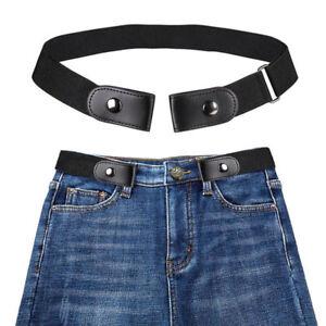 Ceinture-elastique-noire-sans-boucle-unisexe-pour-pantalons-jeans-robe-stretch