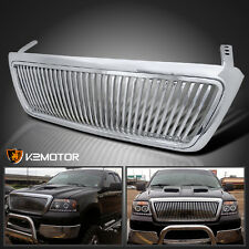 2004-2008 Ford F150 F-150 Chrome Vertical Front Replacement Grill Grille ABS