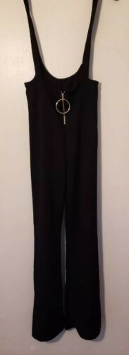 ❤️90s Retro Suspenders Pant Suit Jumper 90s Vtg P… - image 1