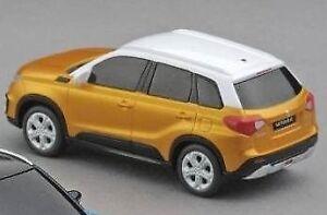 Details about NEW Genuine Suzuki VITARA Pull Back Car Toy Model 1:43 ORANGE 99000 990K4 VTR