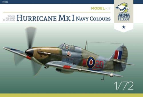 Model Kit scale 1//72 Arma Hobby 70022 Hurricane Mk I Navy Colours