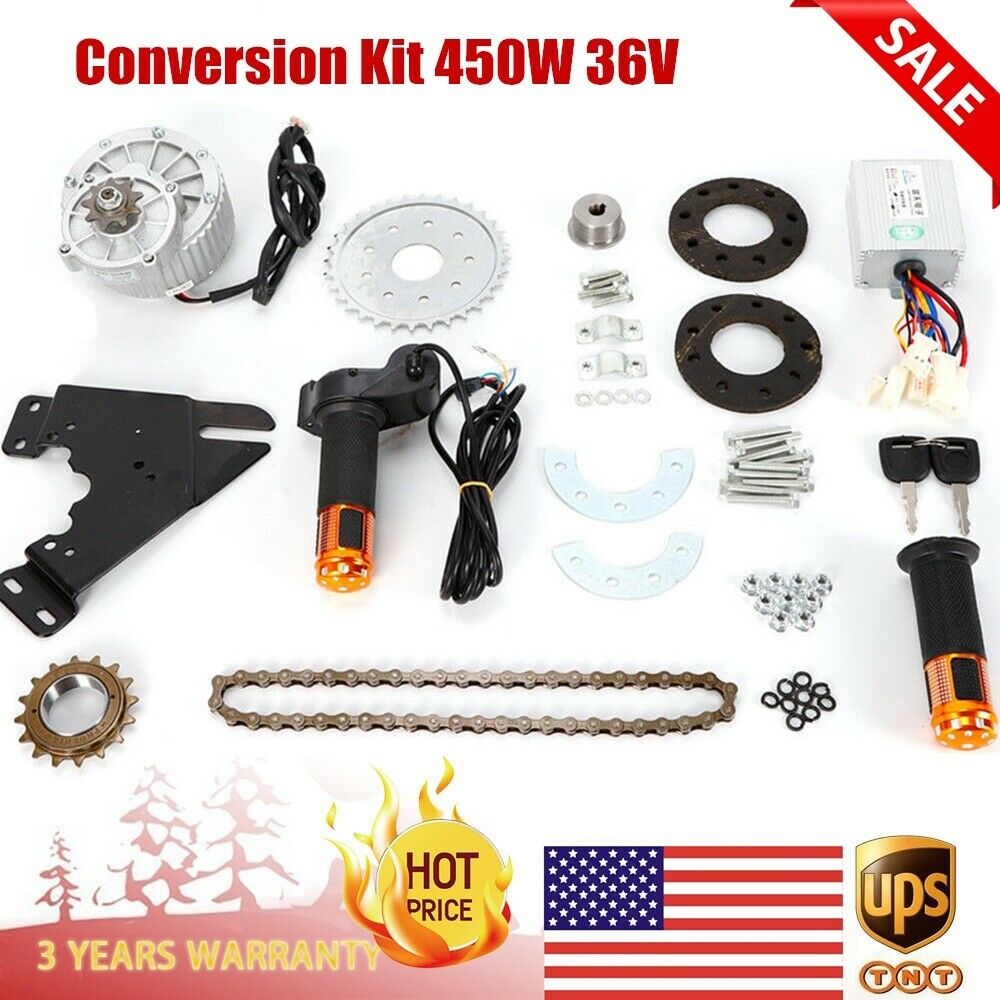450W 36V  E-bike Motor Kit Electric Multiple Speed Bicycle Conversion Kit US New  famous brand