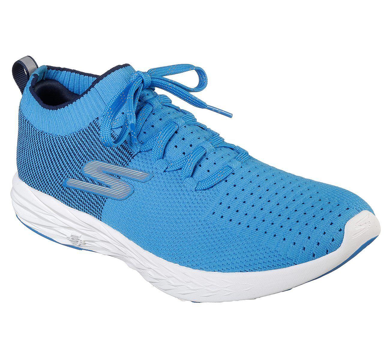 Skechers hommes Performance Go Run 6 bleu 55209/BLU