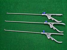 3pc Laparoscopic Ethicon Type Needle Holder Straight Jaw 5mmx330mm Instruments